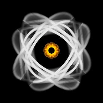 Cenário de luz caleidoscópio abstrato