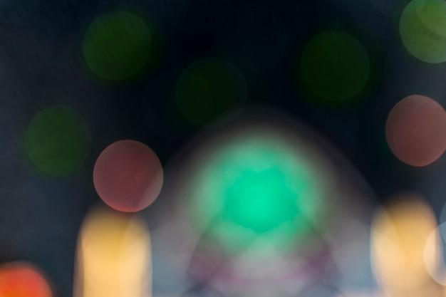 Cenário de luz colorida bokeh