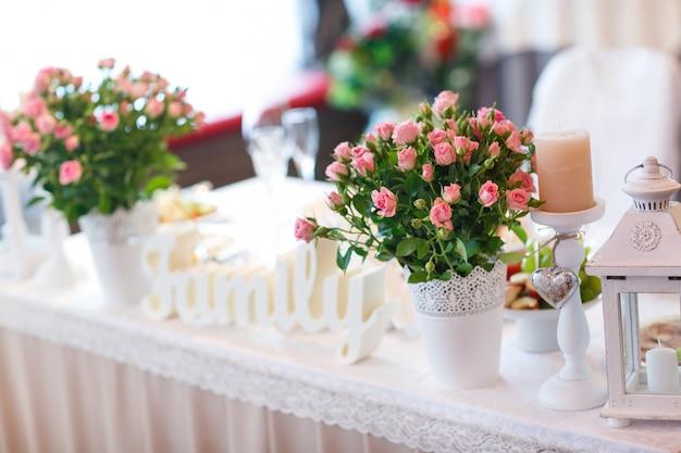 Cenário de mesa de casamento