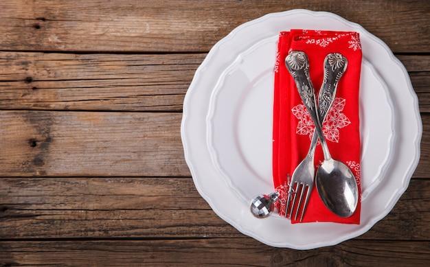 Cenário de mesa de natal e ano novo