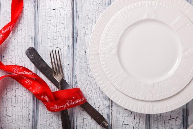Cenário de mesa de natal