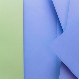 Cenário de papel colorido verde e azul