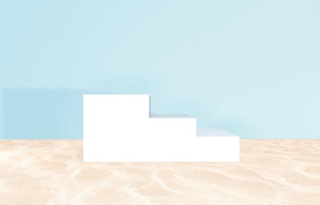 Cenário de praia de verão para exposição do produto