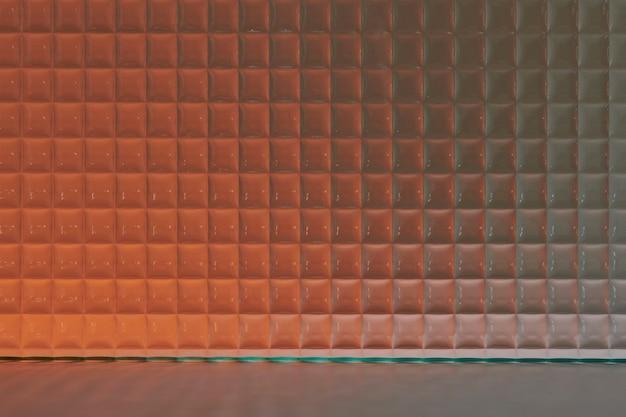Cenário de produto laranja com vidro estampado