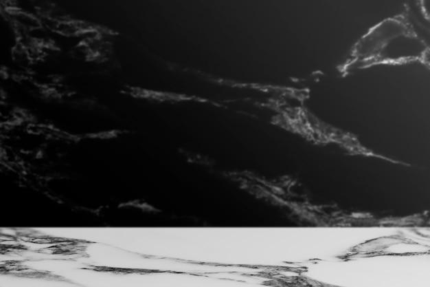 Cenário de produto preto mármore neutro