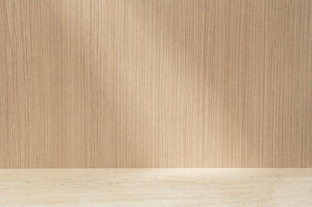Cenário de produtos de madeira, vitrine