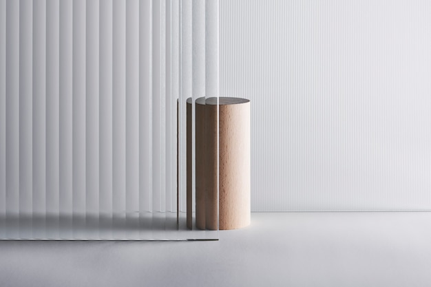 Cenário de produtos de vidro estampado com suporte Foto gratuita
