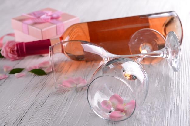 Cenário decorativo na ocasião do são valentim, close-up