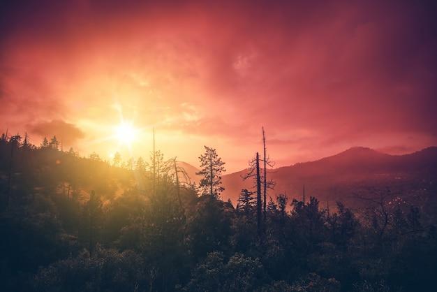 Cenário do pôr-do-sol da califórnia