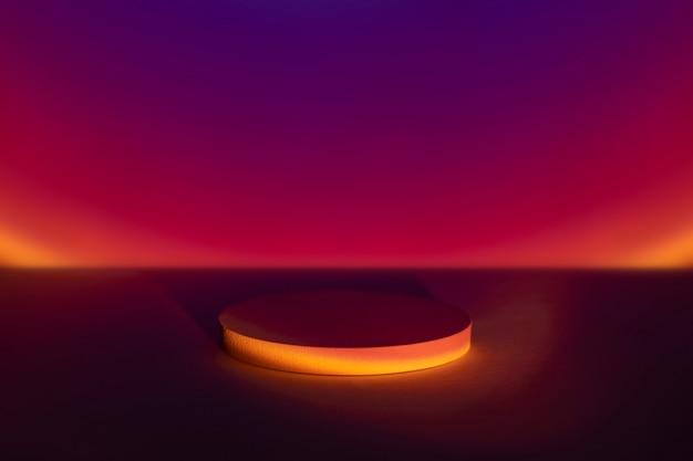 Cenário do produto lâmpada do projetor de pôr do sol