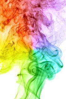 Cenário fumaça colorida
