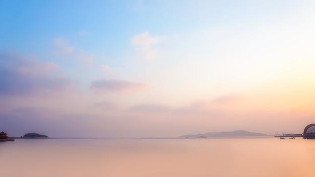 Cenário natural da ilha, cidade de qingdao, china