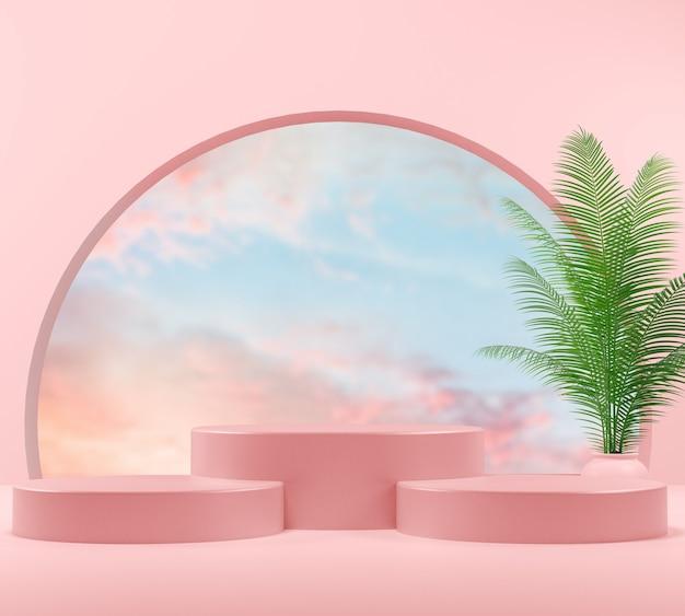 Cenário para mostrar produtos cosméticos