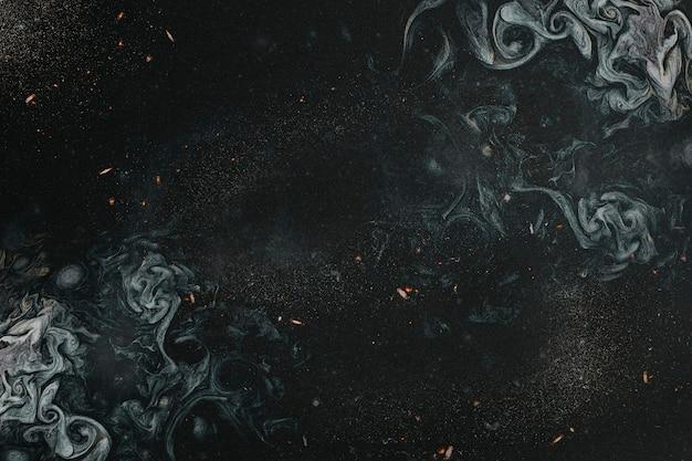 Cenário texturizado com pintura azul índigo