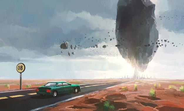 Cenas bizarras de ficção científica.