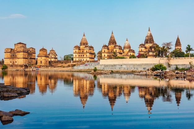 Cenotáfios reais de orchha madhya pradesh índia