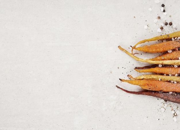 Cenouras assadas