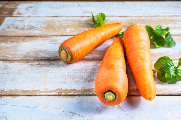Cenouras para vegetais saudáveis
