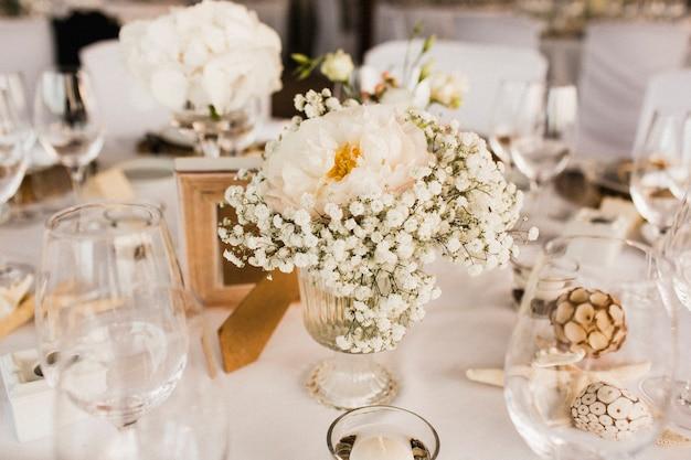 Centrais de flores de casamento