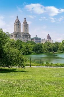 Central park o lago manhattan nova iorque