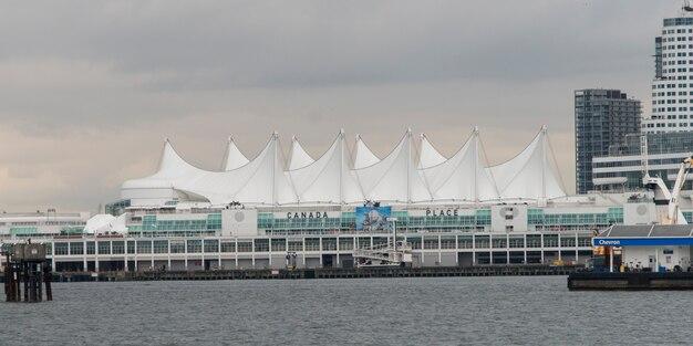 Centro convenção vancouver, em, carvão, porto, vancouver, columbia britânica, canadá