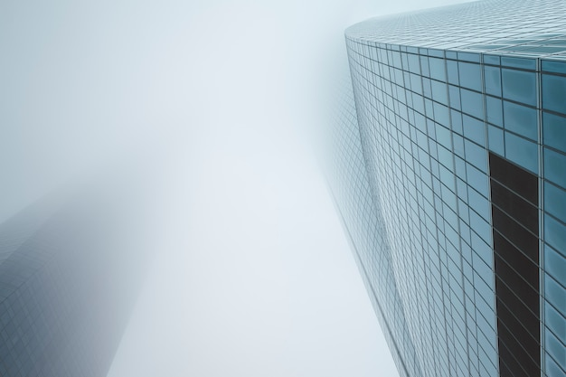 Centro de negócios em um dia nublado. conceito de negócios