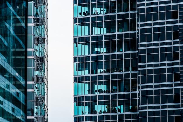 Centro de negócios moderno futurista na capital da rússia