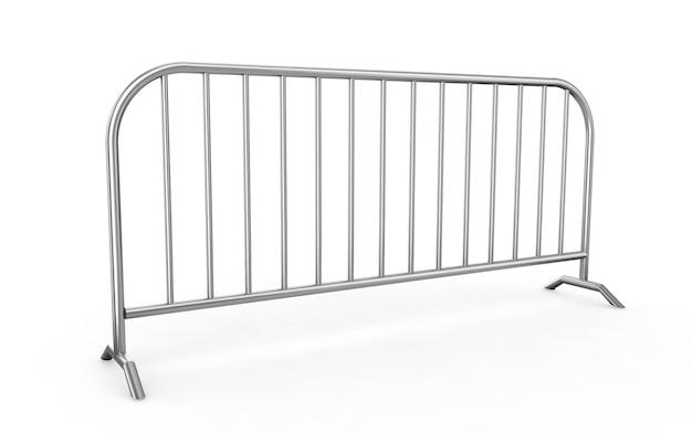 Cerca de arame de metal - isolada uma cerca de arame isolada no branco. renderização 3d