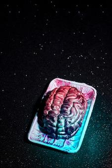 Cérebro assustador falso de halloween