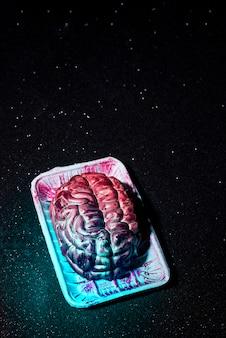 Cérebro assustador falso do dia das bruxas