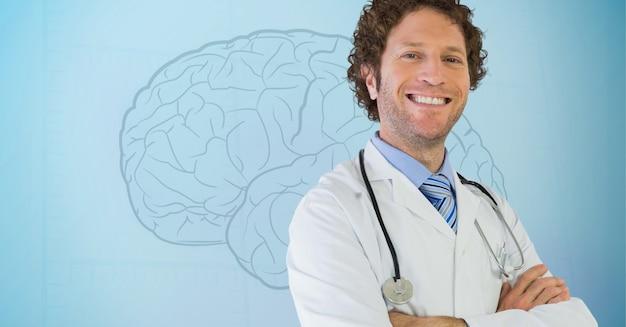 Cérebro fresco carreira de metal alegre