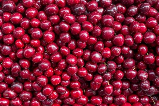 Cereja fresca fruta abstrata padrão colorido textura de fundo