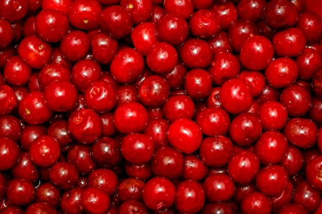 Cereja vermelha doce