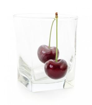 Cerejas e vidro.