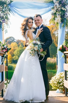 Cerimônia de casamento elegante e criativa