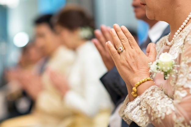 Cerimónia de casamento tailandesa cultura tradicional