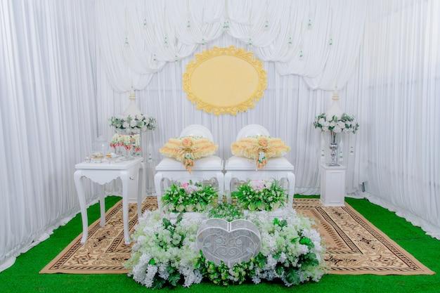 Cerimónia de casamento tailandesa, fundo para o casamento.