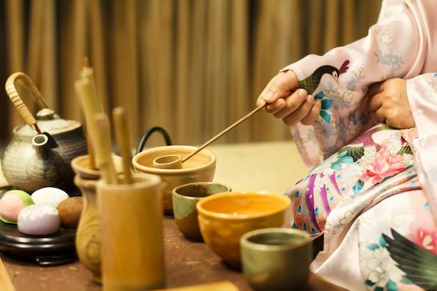 Cerimônia do chá tradicional no japão