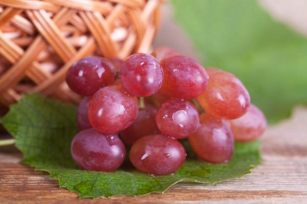 Cesta com uvas contra