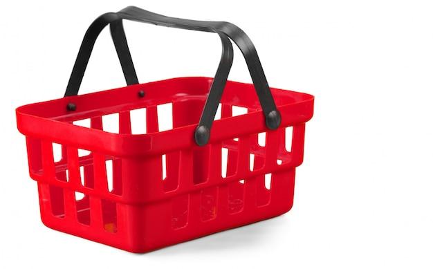Cesta de compras em branco