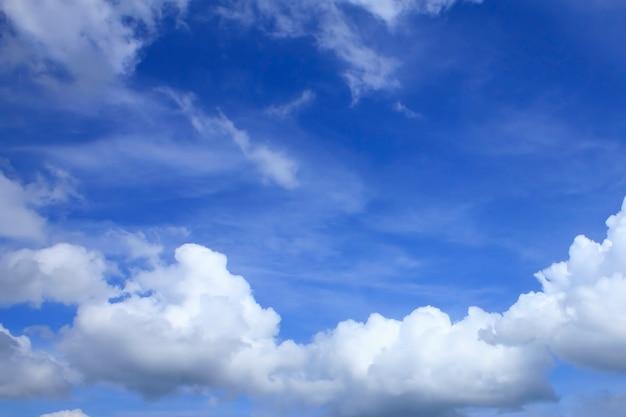 Céu azul, com, nuvem, closeup