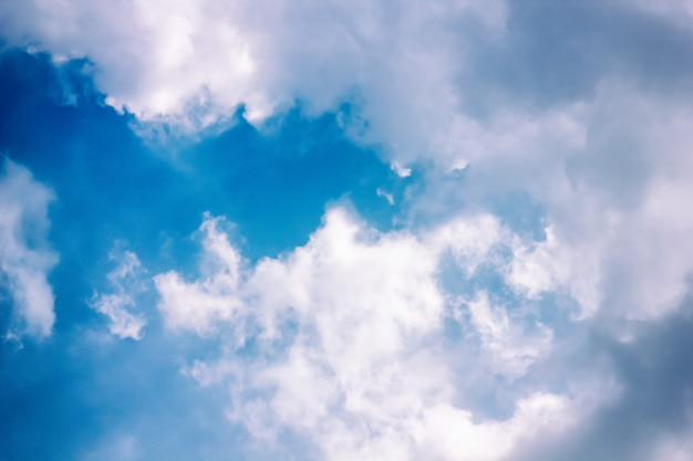Céu azul, com, nuvem closeupblue, céu, com, nuvem, closeup