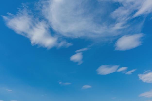Céu azul, com, nuvens, pôr do sol, tempo