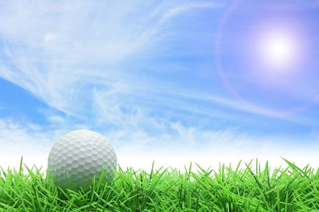 Céu azul de golfe