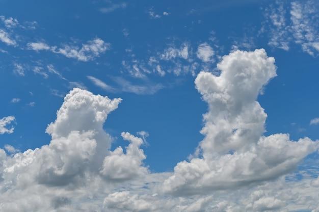 Céu azul nuvens fofas natureza plano de fundo, fundo céu azul realista