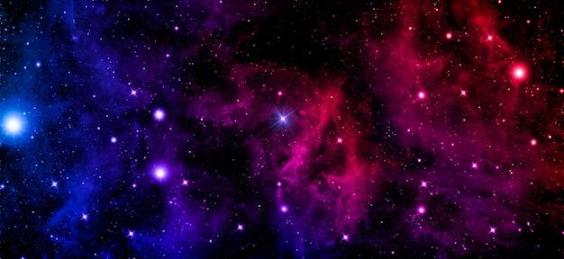 Céu brilhante e escuro de galáxia