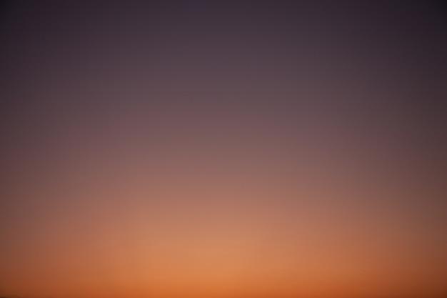 Céu de gradação.