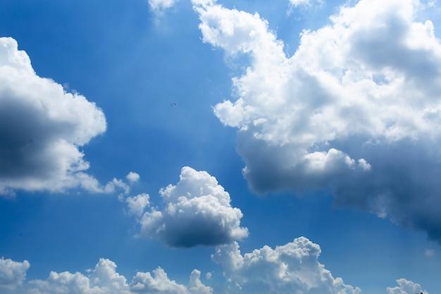 Céu diurno com nuvens cumulus