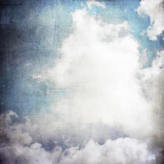 Céu do grunge e nuvens de fundo