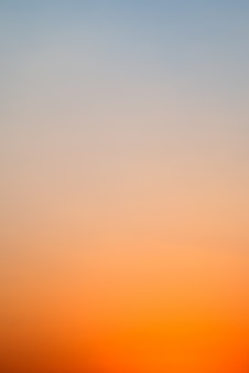 Céu do sol - gradiente de cor do céu do sol